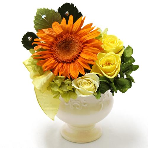 お中元夏のご挨拶夏の誕生日のお花プリザーブドフラワー