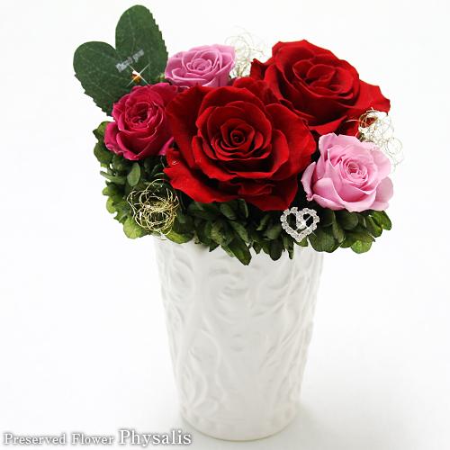 結婚記念日のお花プリザーブドフラワー