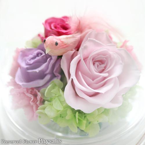 ガーデンドーム(ピンク) プリザーブドフラワー