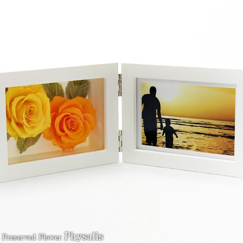 写真フレーム型プリザーブドフラワーアレンジ